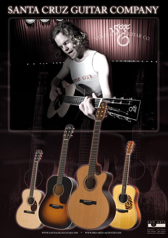 Santa Cruz Guitars - Werbeplakat © Volker Lesch - Alpenland Fotografie